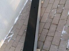 Черный гранит 12×2,5см надгробный материал