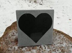 Hauaplaat-süda – 20x20x2cm