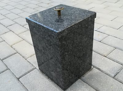 Kiviurn – steel grey- 18x27cm