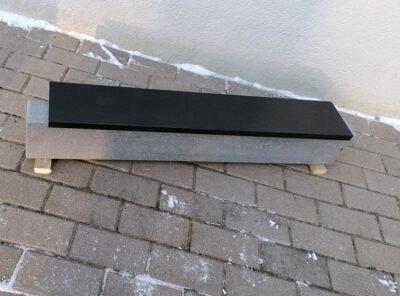 Черный гранит 15×2,5см надгробный материал